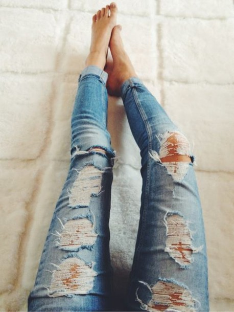 blue-skinny-jeans-ripped-jeans